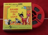 "Disney's ""Bambi"" 15x25 Print Display with Vintage Disney 'Bambi' 7mm Film with Original Box at PristineAuction.com"