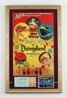 "Disneyland's ""Gala Day"" 15x23 Print Display with Vintage Disneyland Ticket Book & 1968 Disneyland Souvenir Photo Booklet at PristineAuction.com"