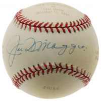 Joe DiMaggio Signed LE OAL Career Stat Engraved Baseball (JSA LOA & DiMaggio Hologram) at PristineAuction.com