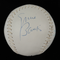Cubs Hall of Famers Softball Signed by (4) with Ernie Banks, Ron Santo, Billy Williams & Fergie Jenkins (Beckett LOA) at PristineAuction.com