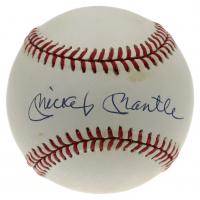 Mickey Mantle Signed OAL Gene Budig Logo Baseball (PSA LOA) at PristineAuction.com
