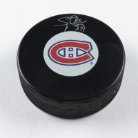 Steve Penney Signed Canadiens Logo Hockey Puck (COJO COA) at PristineAuction.com