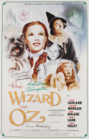 """Mickey Carroll, Donna Stewart-Hardaway & Karl Stover Signed """"The Wizard of Oz"""" 15.5x24 Movie Poster Inscribed """"Munchkin"""" & """"Trumpeter"""" (JSA COA) at PristineAuction.com"""