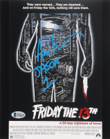 """Ari Lehman Signed """"Friday the 13th"""" 8x10 Movie Poster Print Inscribed """"Jason 1"""" (Beckett COA) (See Description) at PristineAuction.com"""