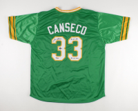"""Jose Canseco Signed Jersey Inscribed """"40/40"""", """"86 AL ROY"""" & """"88 AL MVP"""" (Beckett Hologram) at PristineAuction.com"""