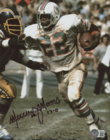 """Mercury Morris Signed Dolphins 8x10 Photo Inscribed """"17-0"""" (Beckett COA) at PristineAuction.com"""