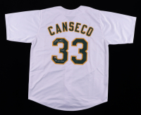 """Jose Canseco Signed Jersey Inscribed """"40/40"""" & """"88 AL MVP"""" (TriStar Hologram) at PristineAuction.com"""