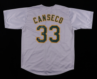 """Jose Canseco Signed Jersey Inscribed """"40/40"""" & """"86 AL ROY"""" (TriStar Hologram) at PristineAuction.com"""