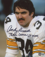 """Andy Russell Signed Steelers 8x10 Photo Inscribed """"Team Captain 10 Years"""" (Beckett COA) at PristineAuction.com"""