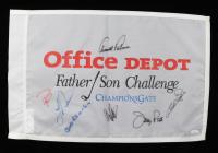 Office Depot Father / Son Challenge 14x21.5 Flag Signed by (7) with Arnold Palmer, Bob Charles, Jerry Pate, Bernhard Langer, Craig Stadler (JSA LOA) (See Description) at PristineAuction.com