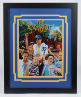 """The Sandlot"" 18x22 Custom Framed Photo Display Cast-Signed by (6) with Tom Guiry, Marty York, Shane Obedzinski, Victor DiMattia, Chauncey Leopard & Brandon Adams (Fiterman Hologram) at PristineAuction.com"