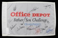 Office Depot Father / Son Challenge 14x21.5 Flag Signed by (12) with Arnold Palmer, Tom Kite, Bernhard Langer, Craig Stadler, Lee Trevino, Hale Irwin (JSA LOA) at PristineAuction.com