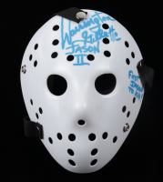 """Warrington Gillette Signed """"Friday the 13th"""" Jason Voorhees Mask Inscribed """"Jason II"""" & """"First Jason To Kill"""" (JSA COA) at PristineAuction.com"""