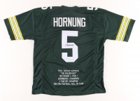 Paul Hornung Signed Career Highlight Stat Jersey (JSA COA) at PristineAuction.com