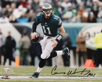 "Carson Wentz Signed Eagles 8x10 Photo Inscribed ""A01"" (Fanatics Hologram) at PristineAuction.com"