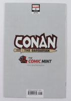 "2019 ""Conan The Barbarian"" Issue #1 Gerardo Zaffino Black & White Virgin Variant Marvel Comic Book at PristineAuction.com"