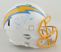 Shawne Merriman Signed Chargers Full-Size Speed Helmet (PSA COA) at PristineAuction.com