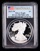 2012-W American Silver Eagle $1 One Dollar Coin - First Strike (PCGS PR70 Deep Cameo) at PristineAuction.com