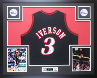 Allen Iverson Signed 35x43 Custom Framed Jersey Display (JSA COA) at PristineAuction.com