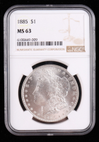 1885 Morgan Silver Dollar (NGC MS63) at PristineAuction.com