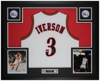 Allen Iverson Signed 35x43 Custom Framed Jersey Display (PSA COA) at PristineAuction.com