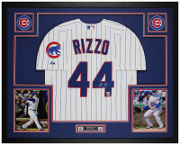 Anthony Rizzo Signed 35x43 Custom Framed Jersey Display (Fanatics Hologram & MLB Hologram) at PristineAuction.com