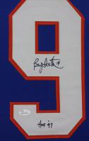 "Bryan Trottier Signed 35x43 Custom Framed Jersey Display Inscribed ""HOF 97"" (JSA COA) at PristineAuction.com"