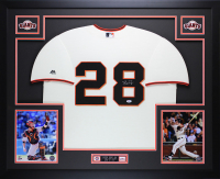 Buster Posey Signed 35x43 Custom Framed Jersey Display (PSA COA) at PristineAuction.com