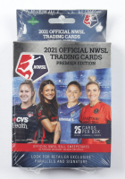 2021 Official NWSL Trading Cards Premier Edition Hanger Box of (25) Cards at PristineAuction.com