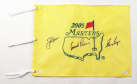 Jack Nicklaus, Arnold Palmer & Gary Player Signed 2005 Masters Golf Pin Flag (Beckett LOA & JSA Hologram) at PristineAuction.com