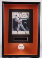 Willie Mays Signed Giants 16.5x23.5x5 Custom Framed Baseball Shadowbox Display (Beckett LOA) at PristineAuction.com