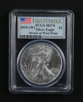 2015-(W) American Silver Eagle $1 One Dollar Coin - First Strike, Struck at West Point (PCGS MS70) at PristineAuction.com