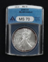 2006 American Silver Eagle $1 One Dollar Coin (ANACS MS70) (Toned) at PristineAuction.com