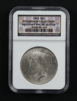 1922 Peace Silver Dollar - Fitzgerald Collection (NGC Brilliant Uncirculated) at PristineAuction.com