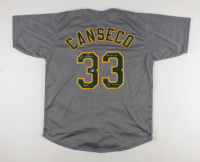 Jose Canseco Signed Jersey with Multiple Stat Inscriptions (Beckett Hologram) at PristineAuction.com