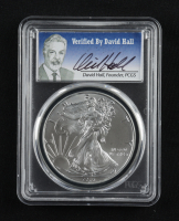 2016 American Silver Eagle $1 One Dollar Coin - First Strike, 30th Anniversary, David Hall Signed Label (PCGS MS70) at PristineAuction.com