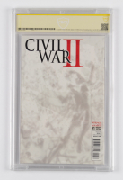 """Kim Jung Gi Signed 2016 """"Civil War II"""" Issue #1 Connecting Variant Marvel Comic Book Inscribed """"2017"""" (CBCS Encapsulated - Graded 9.8) at PristineAuction.com"""