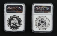 2013-W American Silver Eagle $1 One Dollar Coin West Point Mint (2) Coin Set Set, Reverse Proof & Enhanced Finish - Monster Collection (NGC SP69/REV PF69) at PristineAuction.com