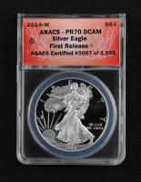 2014-W American Silver Eagle $1 One Dollar Coin - First Release (ANACS PR70 Deep Cameo) at PristineAuction.com