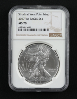 2017-(W) American Silver Eagle $1 One Dollar Coin Silver Eagle - Struck at West Point (NGC MS70) at PristineAuction.com
