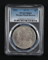 1921 Morgan Silver Dollar, Pitted Reverse Hot 50 (PCGS MS63) at PristineAuction.com