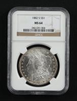 1882-S Morgan Silver Dollar (NGC MS64) at PristineAuction.com