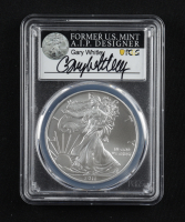 2011-(S) American Silver Eagle $1 One Dollar Coin - Struck at San Francisco, Gary Whitley Signed Label (PCGS MS70) at PristineAuction.com