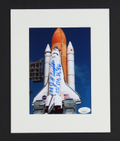 """John Creighton Signed 8x10 Custom Matted Photo Inscribed """"STS 51G, 36, 48"""" (JSA COA) at PristineAuction.com"""