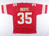 Christian Okoye Signed Jersey (PSA Hologram) at PristineAuction.com