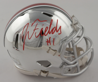 Justin Fields Signed Ohio State Buckeyes Chrome Speed Mini Helmet (JSA COA) at PristineAuction.com
