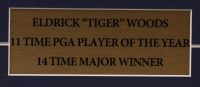 Tiger Woods 14x15 Custom Framed Photo Display with Pebble Beach Divet Toll & Marker at PristineAuction.com