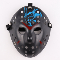 """Warrington Gillette Signed """"Friday the 13th"""" Jason Voorhees Mask Inscribed """"Jason II"""" (Legends COA) at PristineAuction.com"""