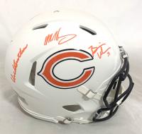 Dick Butkus, Mike Singletary & Brian Urlacher Signed Bears Full-Size Authentic On-Field Matte White Alternate Speed Helmet (Beckett Hologram) at PristineAuction.com