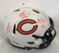 "Dick Butkus, Mike Singletary & Brian Urlacher Signed Bears Full-Size Authentic On-Field Lunar Eclipse Alternate Speed Helmet Inscribed ""HOF 79"", ""HOF 98"" & ""HOF 2018"" (Beckett Hologram) at PristineAuction.com"